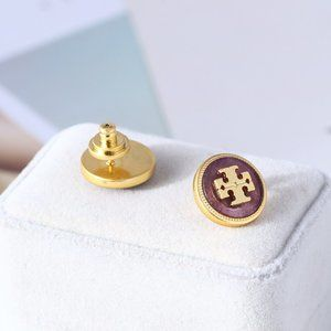 🎁NWT Tory Burch  Stone Lucky Icon Stud Earrings